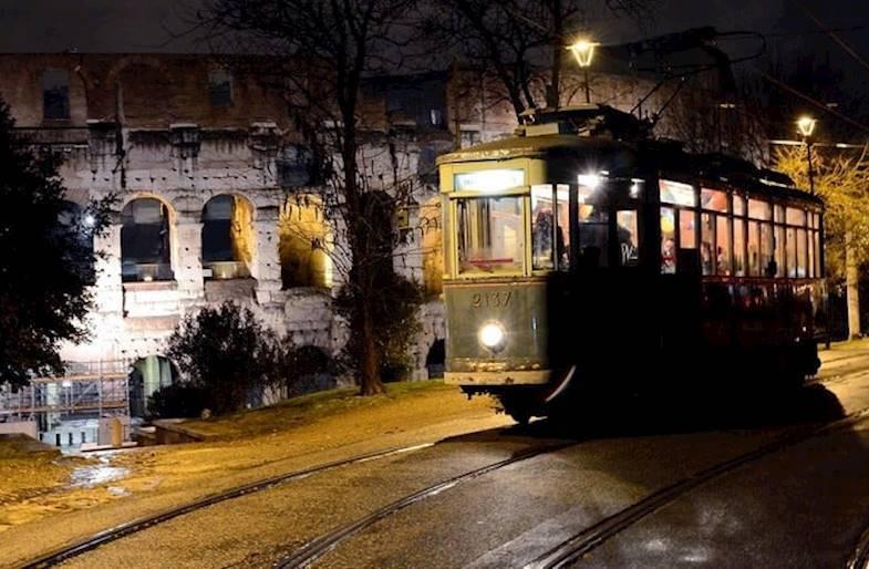 Cena su tram jazz a Roma