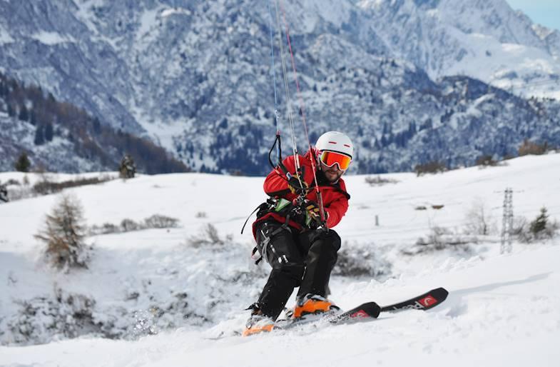 Corso di Snowkite in Trentino