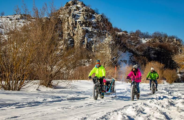 Fat E-Bike Tour in Abruzzo a Ovindoli