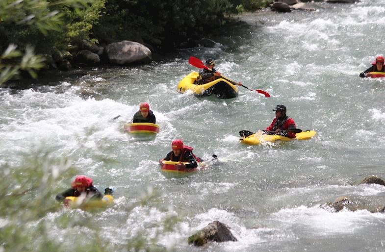 Hydrospeed in Trentino sul fiume Noce