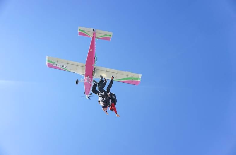 Lancio con paracadute in Sicilia in Tandem