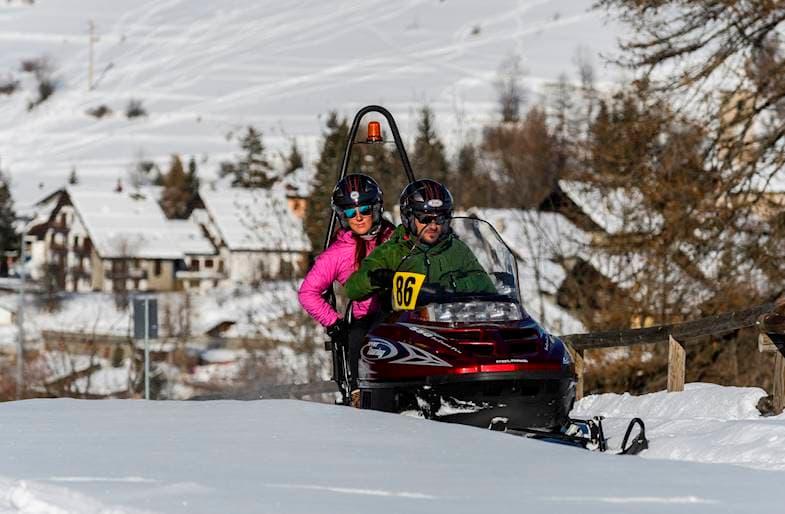 Escursione Motoslitta e Winter Park a Sestriere