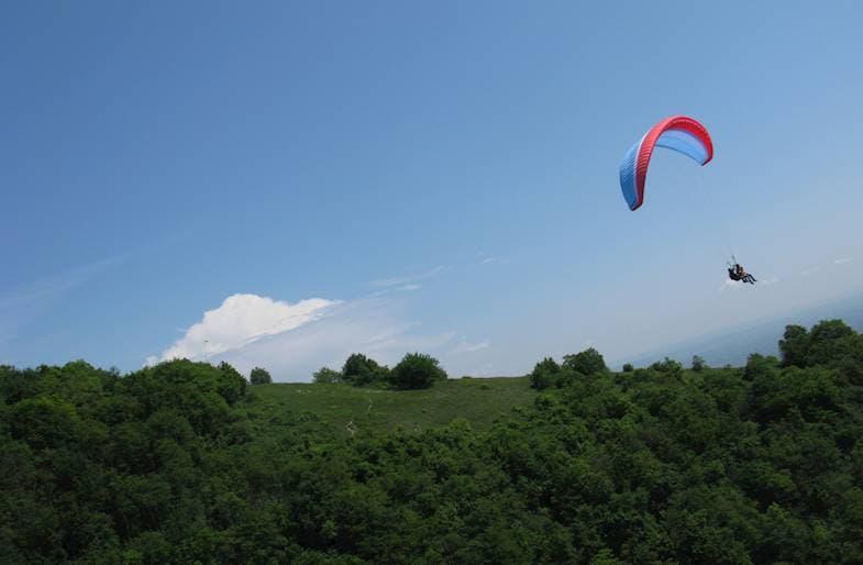Volo in Parapendio a Brescia