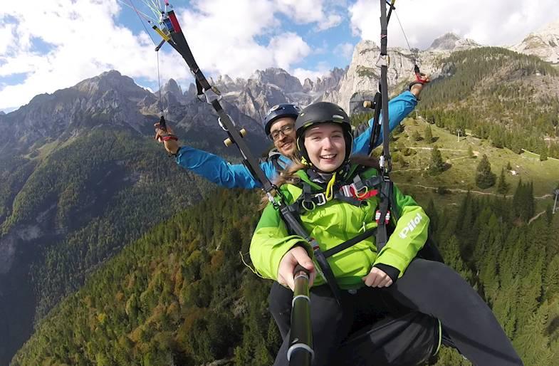 Parapendio a Molveno in Trentino