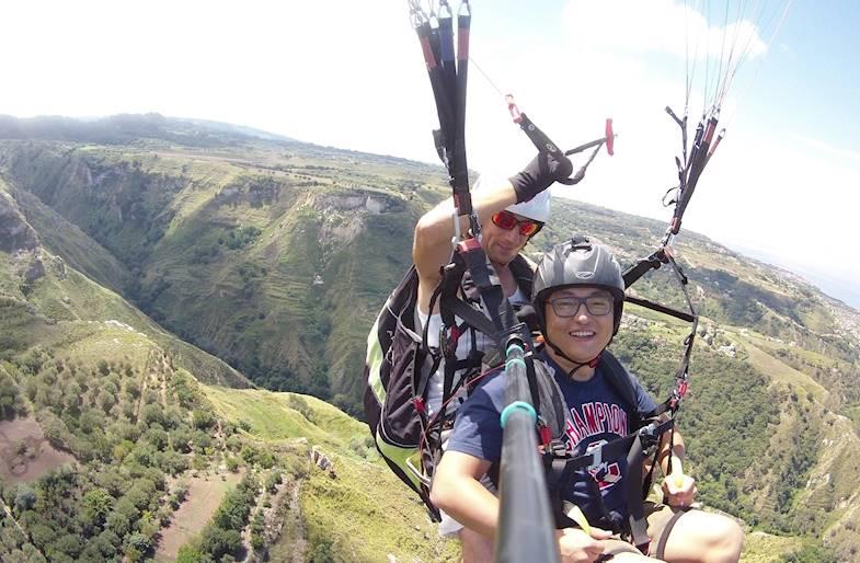 Volo in Parapendio sul Monte Consolino