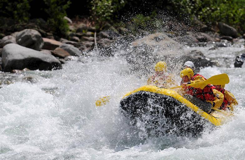 Rafting di coppia in Valtellina