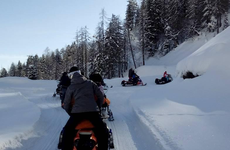 Tour in Motoslitta a Sauris in Friuli