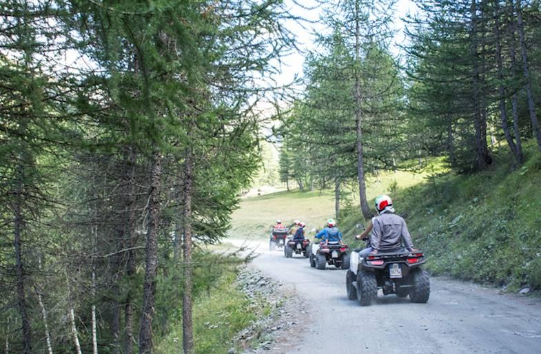 Tour in Quad in Piemonte sulle Alpi