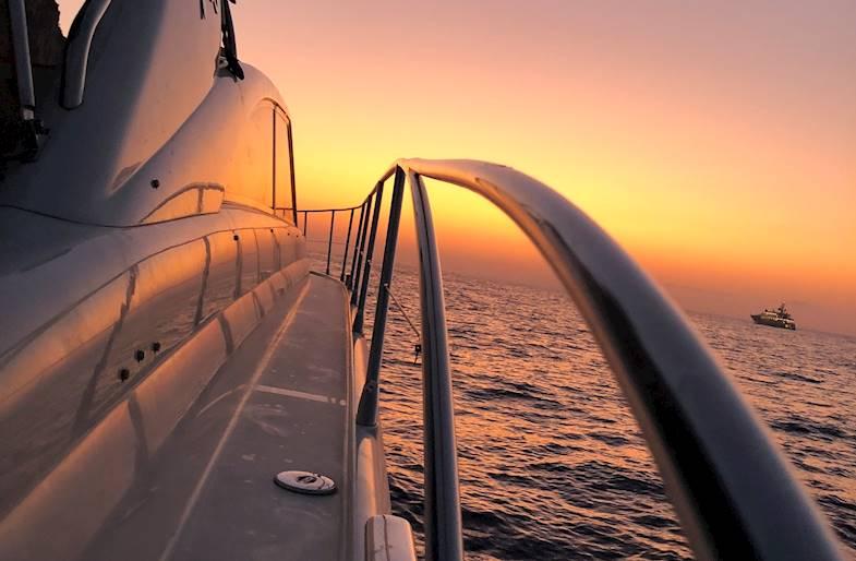 Tramonto in Barca privata a Capri