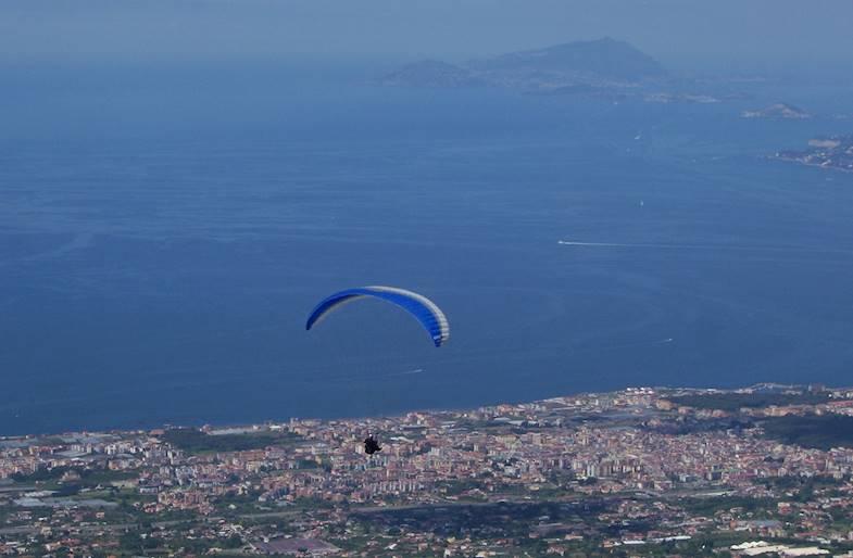 Volo in parapendio in Campania