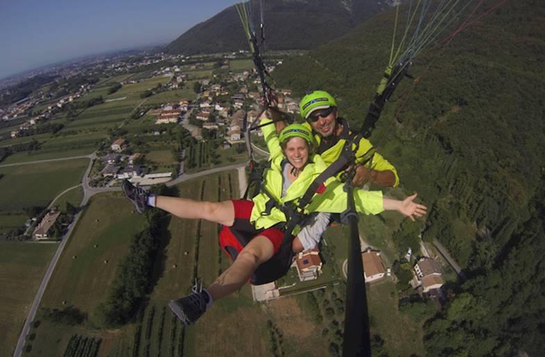 Volo in Parapendio Tandem sul Montegrappa