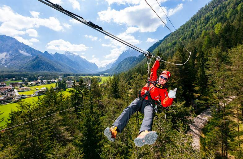 Zipline in Trentino Alto Adige
